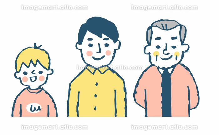 3世代親子男性の販売画像