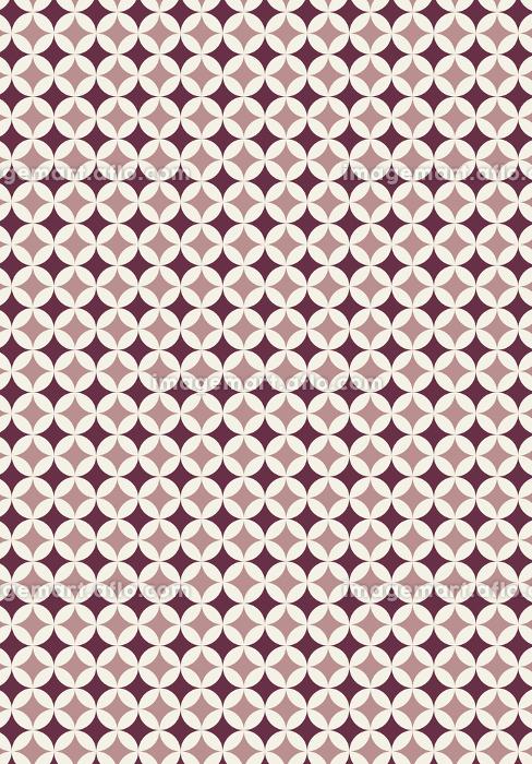 和柄のイラスト背景 日本の伝統模様 七宝文様帯全面 縦位置茶色系の販売画像