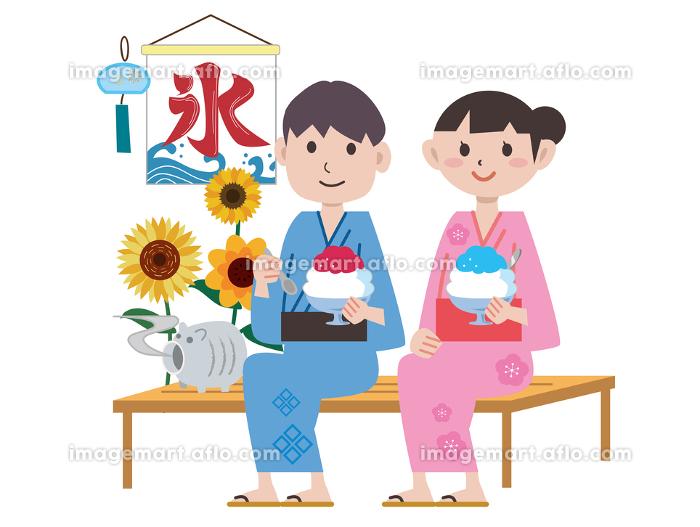 夏祭り かき氷 夫婦の販売画像