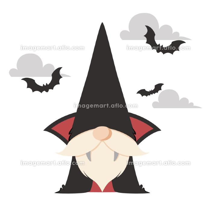 ハロウィンの吸血鬼のコスチュームを着た北欧の小人のキャラクターの販売画像