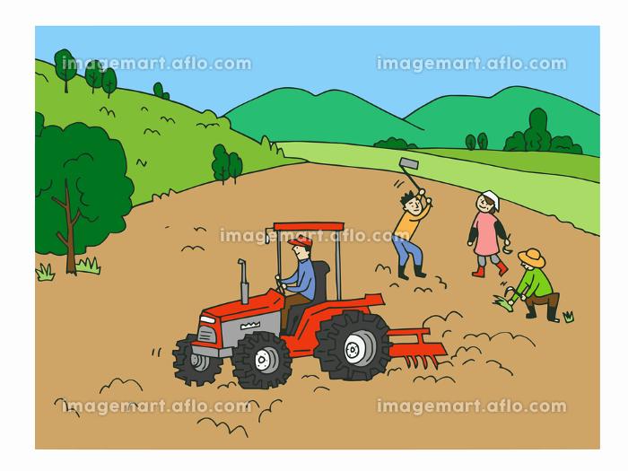 農業 荒地を耕す人々