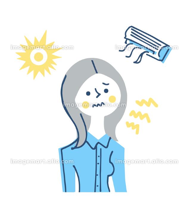 紫外線やエアコンによる肌への刺激 女性の販売画像