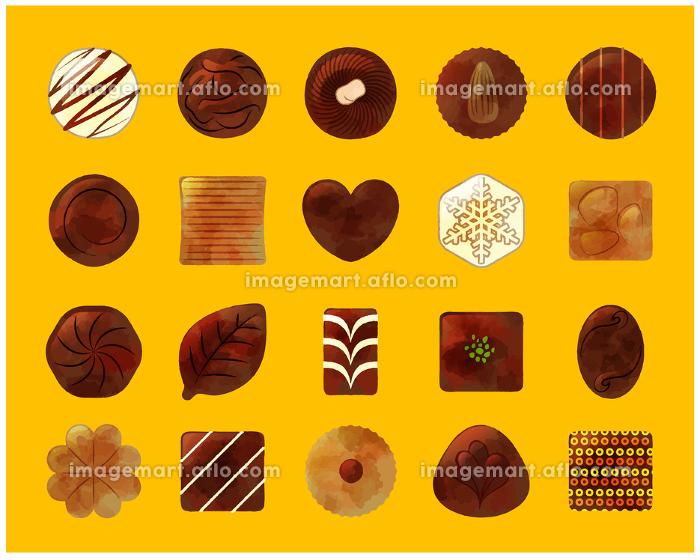 アナログ風チョコレートイラストセット イメージマート