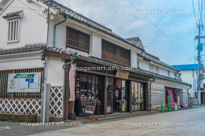 秋の水郷柳川の街並み(福岡県柳川市)の販売画像