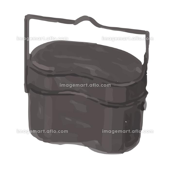 アウトドア キャンプ 飯盒炊爨 イラスト 手描き 水彩の販売画像