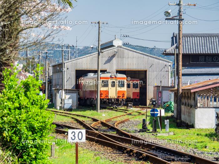 春の鉄道風景 いすみ鉄道大多喜駅 3月の販売画像