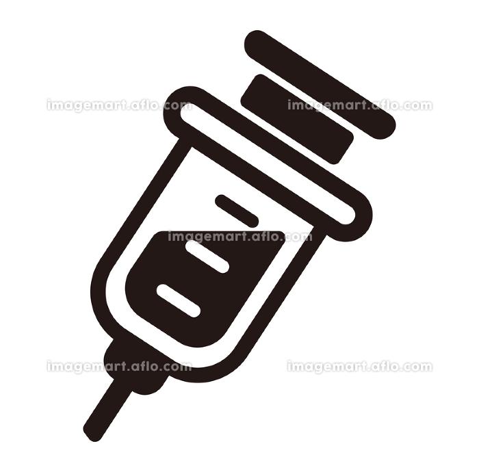 注射器 ベクターアイコン (新型コロナウイルス/COVID-19/ワクチン)の販売画像