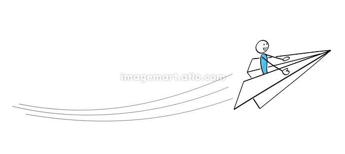 棒人間 紙飛行機で飛ぶの販売画像