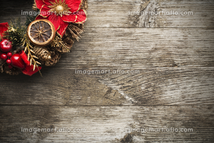 オーナメント クリスマスリース ボードの販売画像
