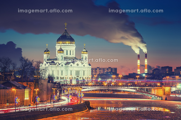 Winter evening in Moscow