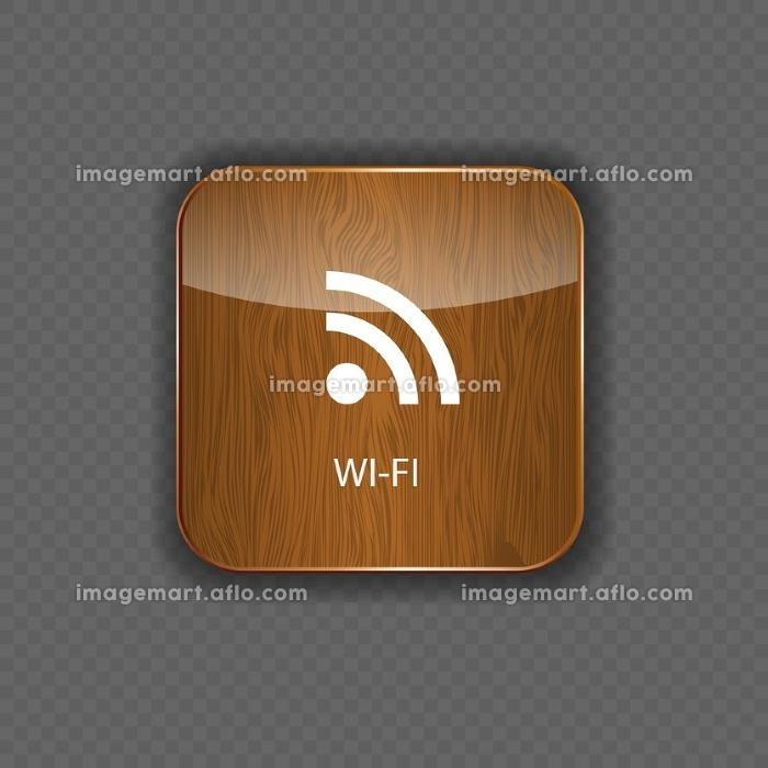 Wi-fi wood  application iconsの販売画像