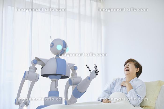 病室を回診するロボット