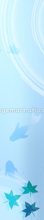 金魚と楓と波紋のお中元用バナー 120x600の販売画像