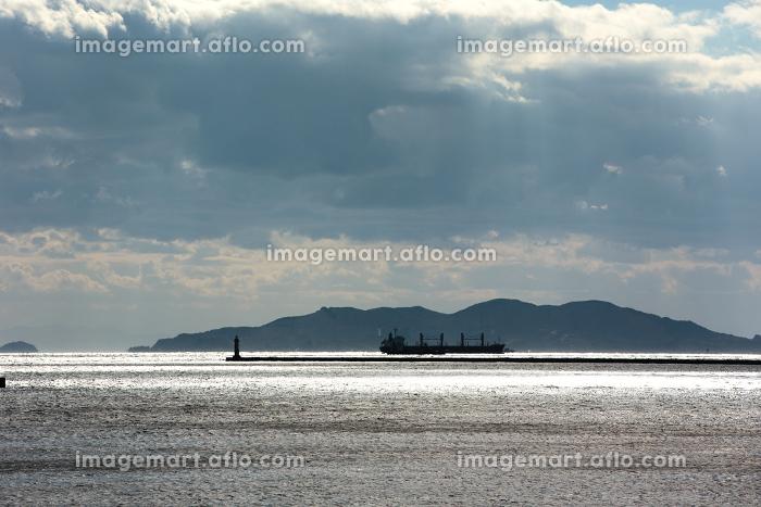 瀬戸内の海、島、船・日本の販売画像