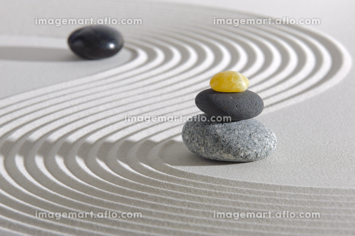 japanese zen garden in sand