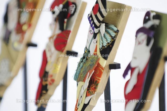 飾り用の伝統羽子板のミニチュアの販売画像