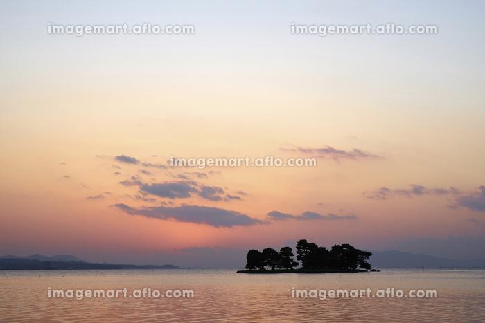 宍道湖の夕日の販売画像