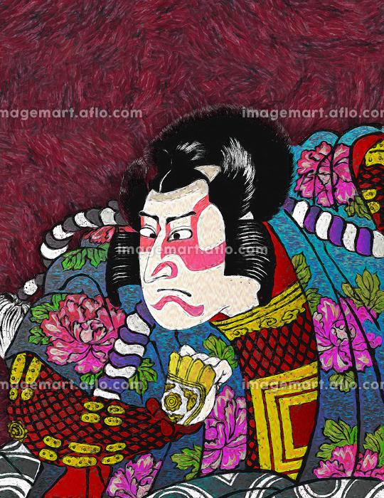 浮世絵 歌舞伎役者 その37 油絵バージョンの販売画像