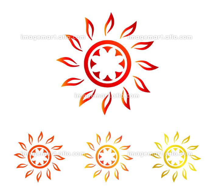 夏の太陽|シンボル セット(褐色、オレンジ、ゴールド)の販売画像