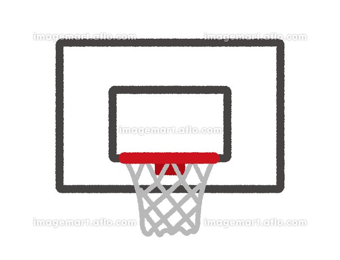 バスケットゴール イラスト(手書き風ラフタッチ)の販売画像