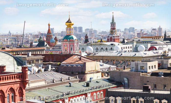 Moscow city skyline with Kremlinの販売画像