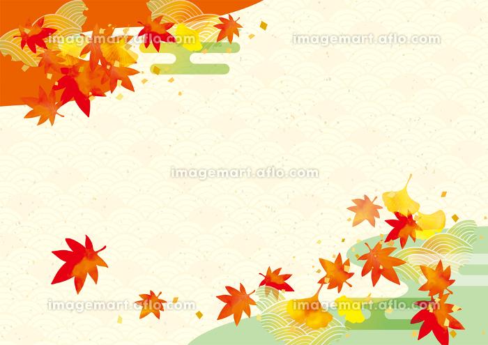 秋の紅葉の背景素材の販売画像