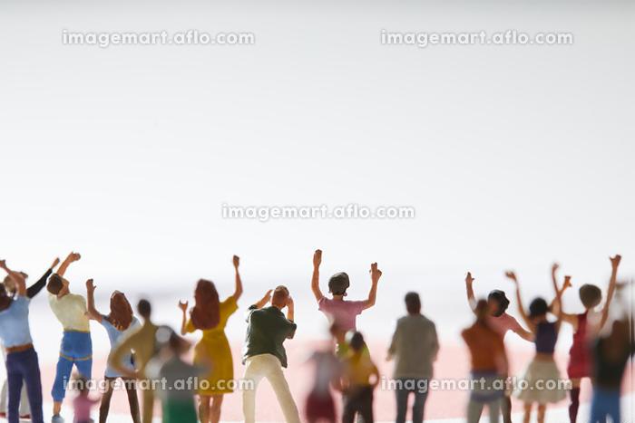 フィギュア 応援する観客