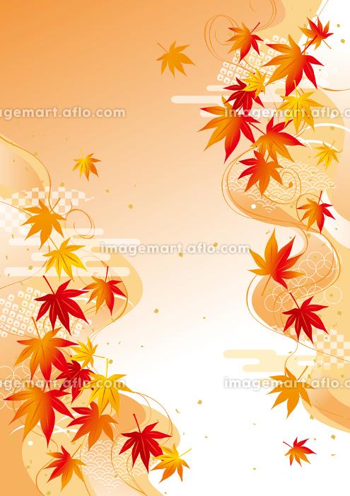 美しい紅葉のイラストの販売画像