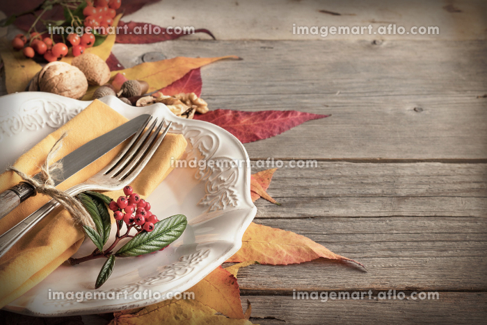 Autumn table settingの販売画像