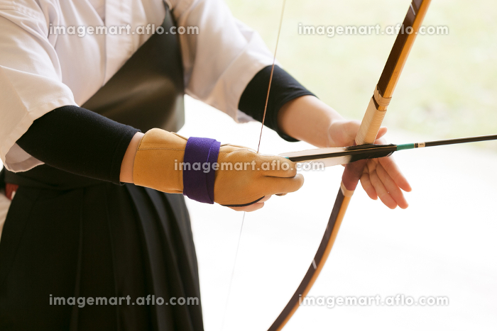 日本の伝統的武道、弓道の販売画像
