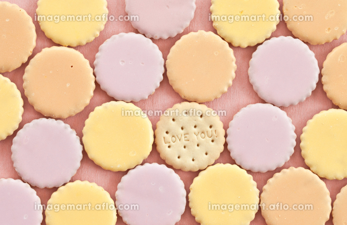 colorful cookies with icingの販売画像
