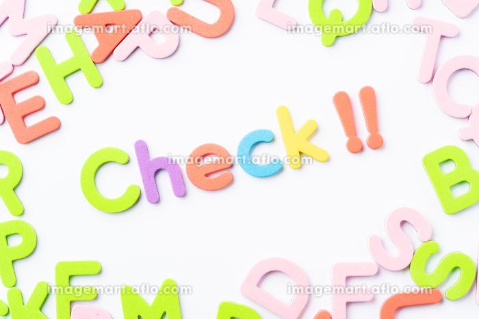 Check アルファベット 白背景の販売画像