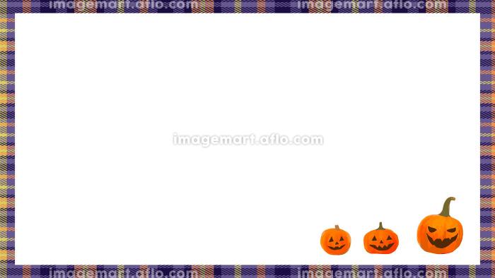 ハロウィンのかぼちゃ フレーム背景の販売画像