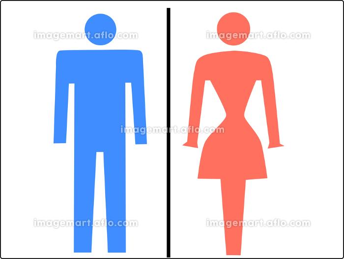 シンプルなお手洗いの男女マークの販売画像