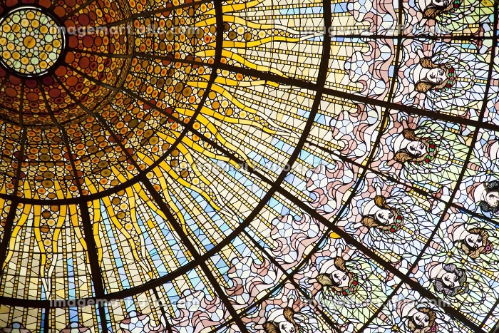 カタルーニャ音楽堂のステンドグラス