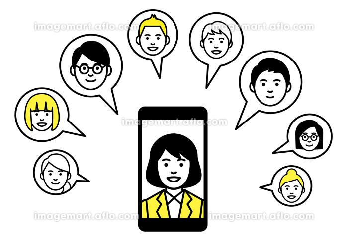 リモートワーク スマートフォン web会議の販売画像