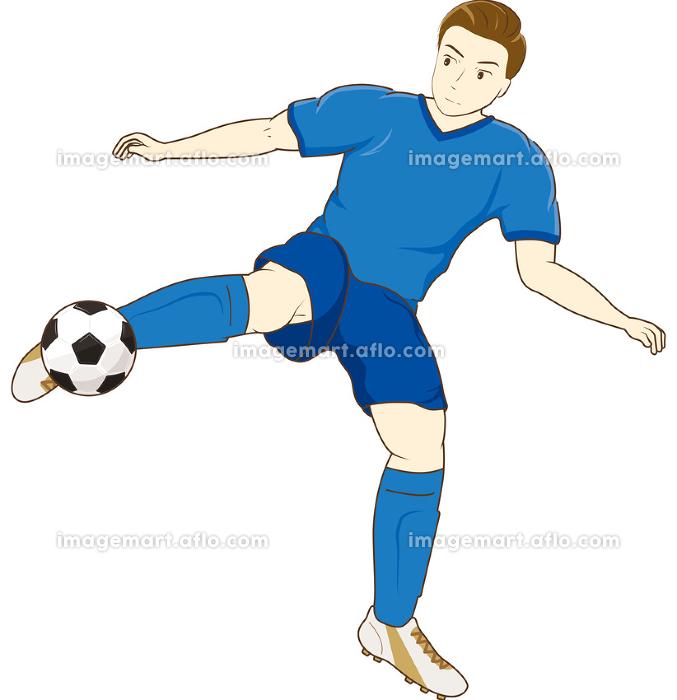 サッカーをする男性04の販売画像