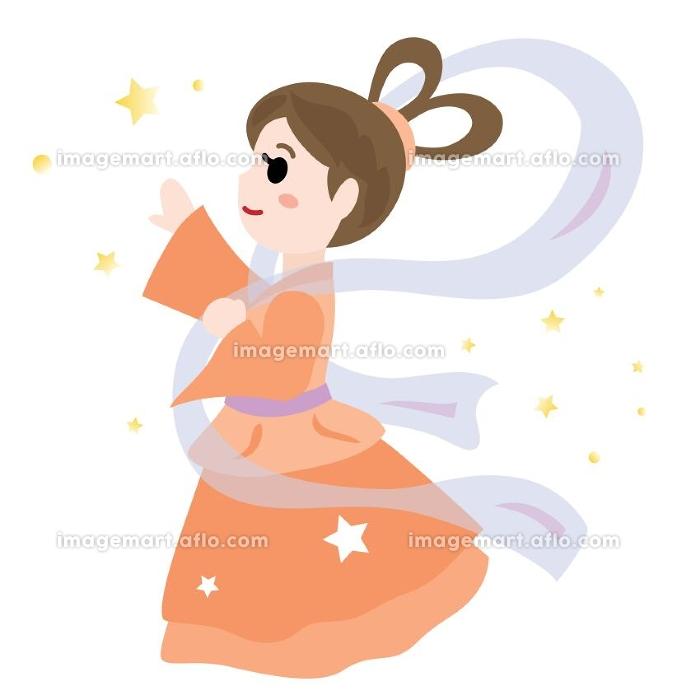 七夕祭りの織姫のイラストの販売画像