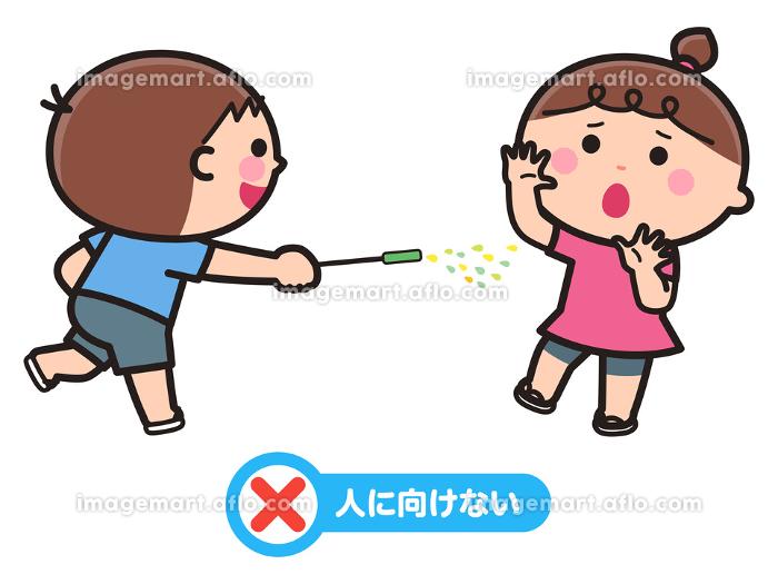 花火のあそび方・花火を人に向ける子の販売画像