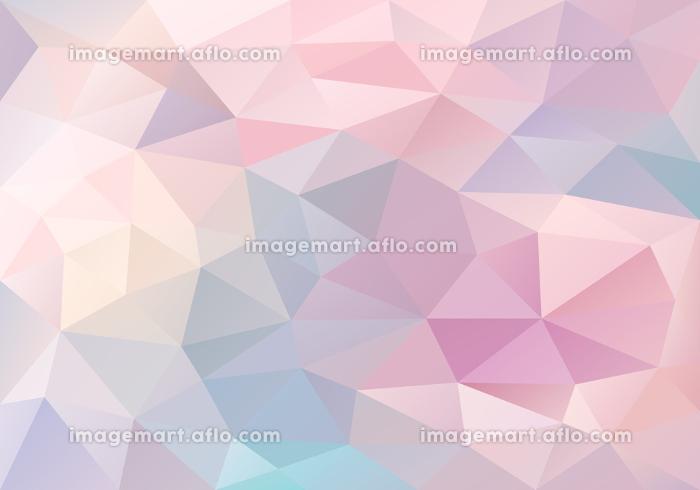 パステルピンクや紫の三角形で作られた幾何学模様