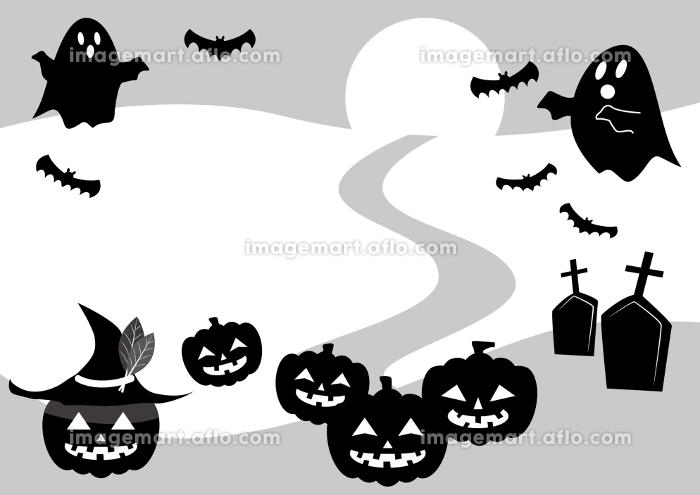 ハロウィンのかぼちゃとお化けのイラストの販売画像