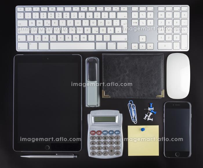 Blank Corporate ID Set on black backgroundの販売画像