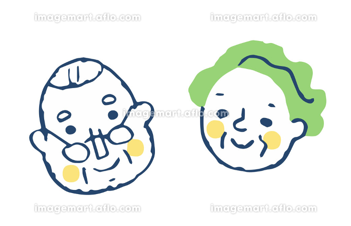 笑顔のシニアカップルの販売画像