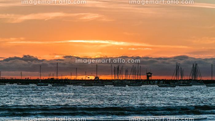 Sunset at the Marina of Melbourne, Australiaの販売画像