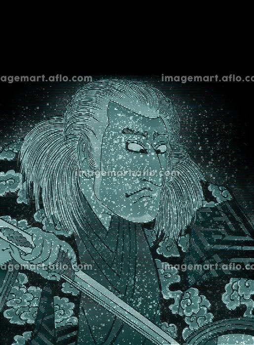 浮世絵 歌舞伎役者 その14 ホログラムの販売画像