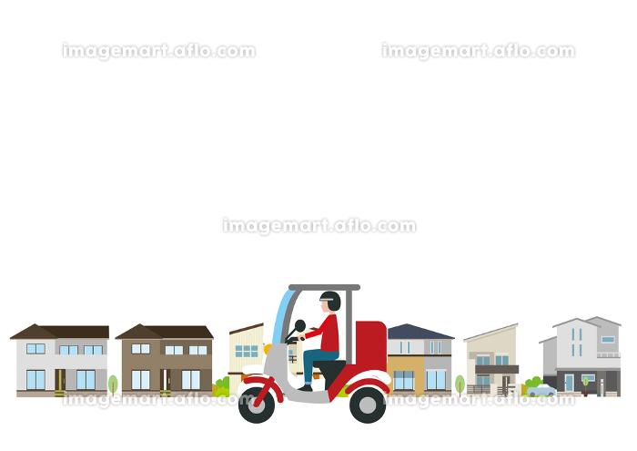 オートバイで宅配サービスの販売画像