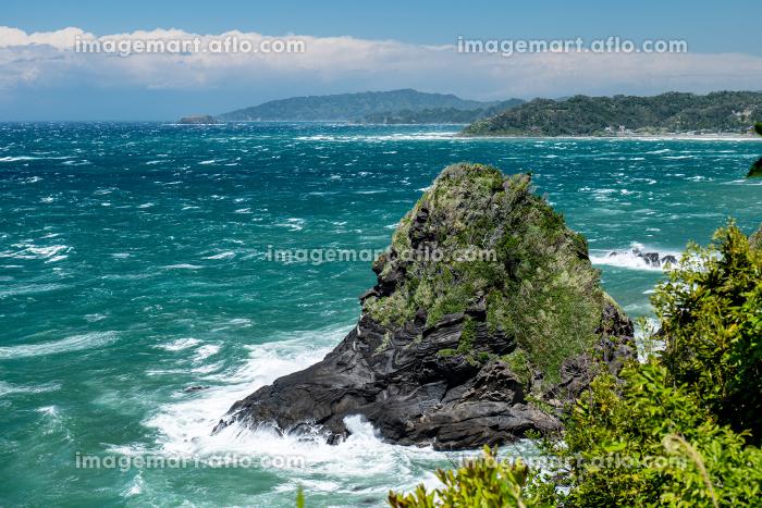 初夏の千葉県大房岬の風景 増間島 5月の販売画像