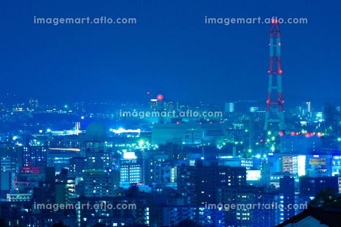 工業都市北九州の街並み夜景の販売画像