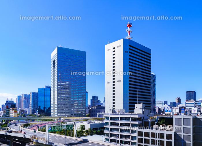 首都高と田町方面の商業ビルの風景 【東京都の都市風景】の販売画像