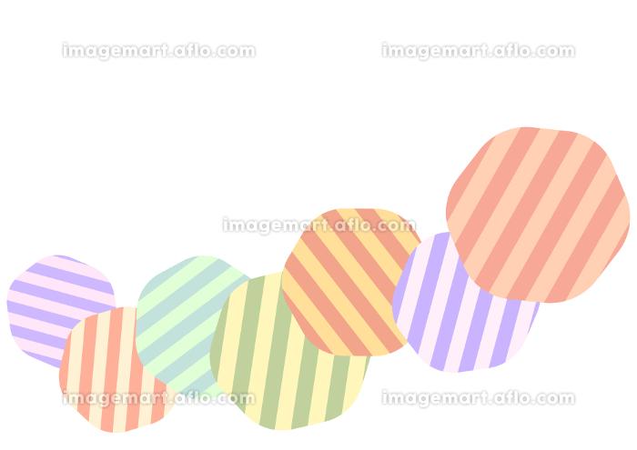 ストライプ模様の丸のベクターの背景素材の販売画像